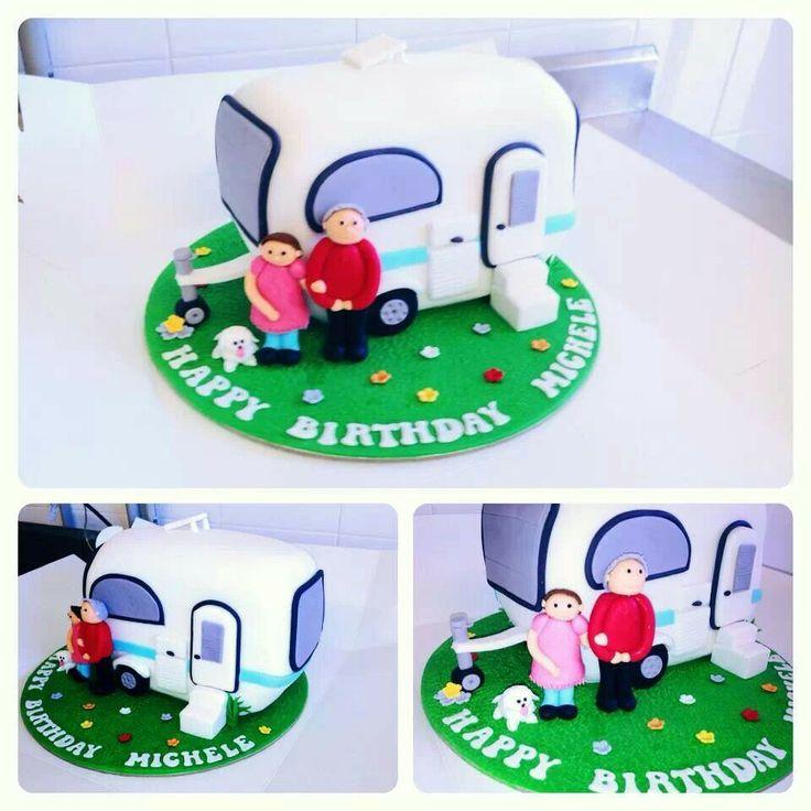 Cake Decoration Caravan : 28 best Caravan cake images on Pinterest Caravan, Cake ...