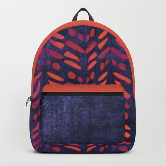 Tribal Pattern on Indigo Backpacks