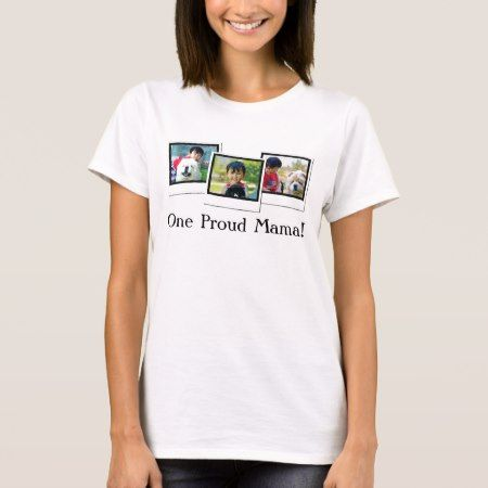 Three Photo Mother's Day Personalized T-Shirt - tap to personalize and get yours