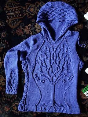 По одной схеме-плед и пуловер-Yggdrasil (Древо Вселенной)