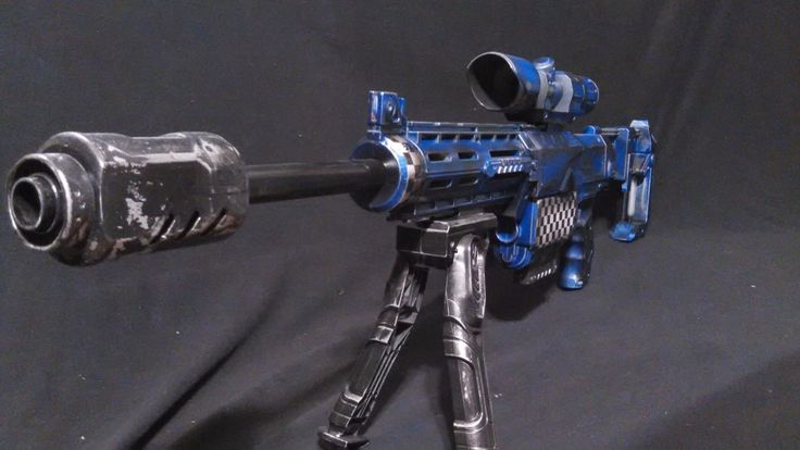 Nerf RECON Modified & CUSTOM PAINTED SNIPER BLUE With Custom SNIPER Barrel CRAZY