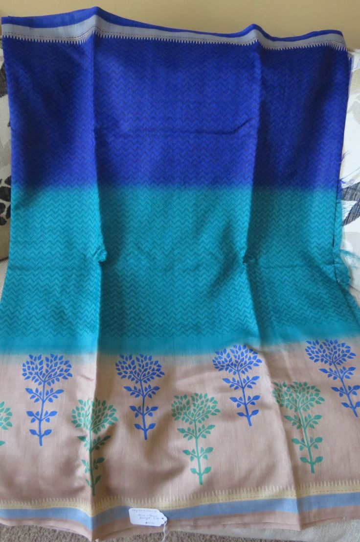Tussar Silk sari from Banaras by ZainabBoutique on Etsy
