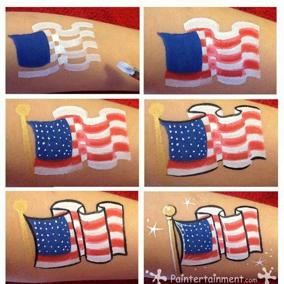 American flag. Nice waving flag on pole.