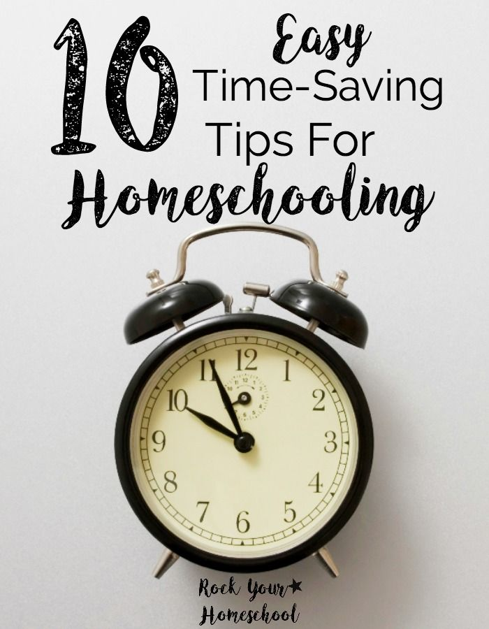 There is always so much to do! Use these 10 Easy Time-Saving Tips For Homeschooling for better time management. Make more time for fun!