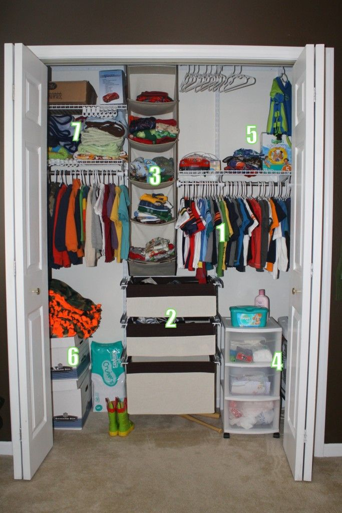 How To Organize A Kid 39 S Closet Home Pinterest