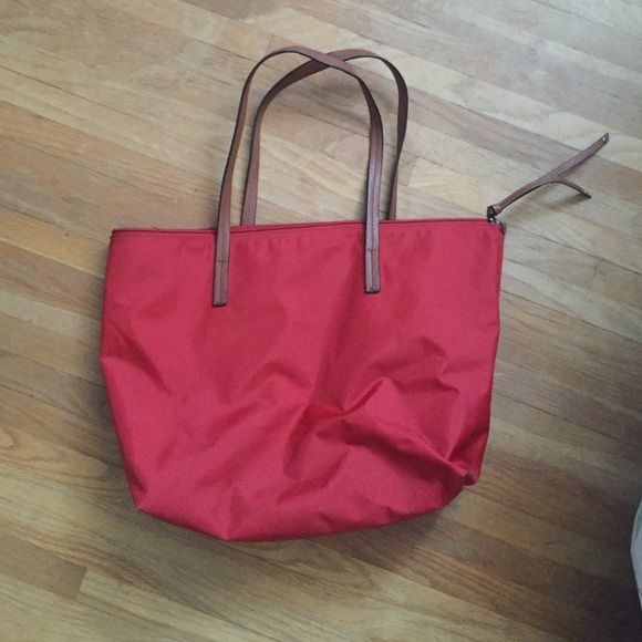 Red Banana Republic Tote Bag Red BR bag. Great for school or as a purse. Barely been used. Banana Republic Bags Totes