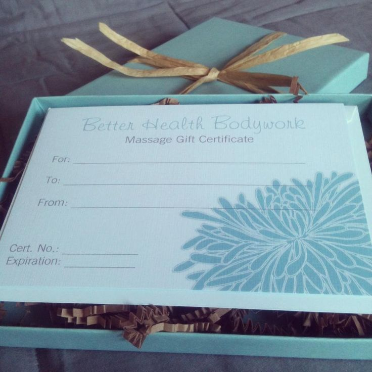 gift wrapping massage gift certificates gift certificate