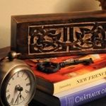 Amazing prose and traditional craftsmanship comprise this romantic anniversary gift.
