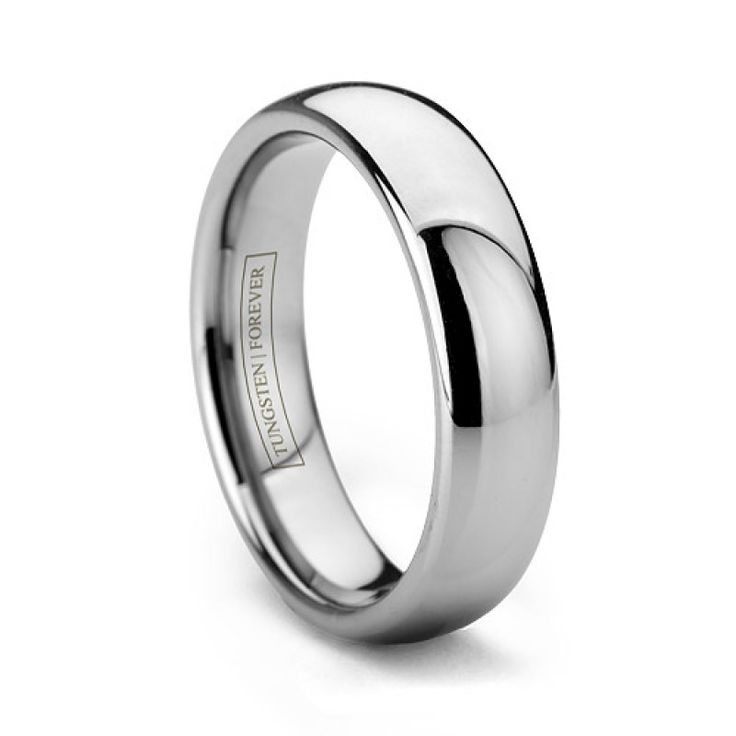4mm 6mm Tungsten Wedding Ring Polished & Domed