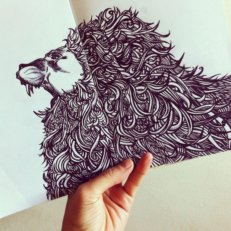 Kelly Strong's Biro Artwork ©