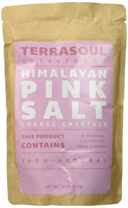 Terrasoul Superfoods Himalayan Pink Salt (Coarse), 16-ounce (Pack of 2)