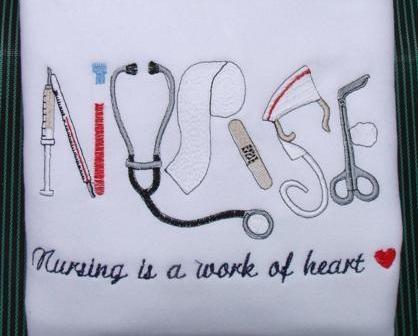 Nurse Embroidered SWEATSHIRT-t-shirt,Nursing,RN,LPN,medical