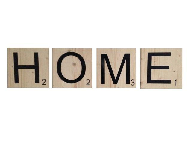 große Buchstaben, holz, Scrabble, Wand
