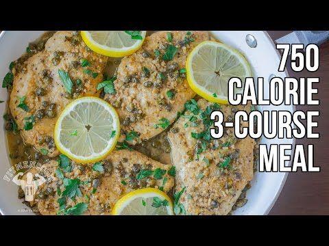My 750-Calorie 3 Course Meal Challenge / Reto de Comida de 3 Platillos de 750 Calorías - YouTube