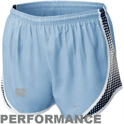 Nike North Carolina Tar Heels (UNC) Ladies Carolina Blue Seasonal Tempo Performance Shorts