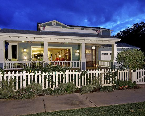 picket fence: San Diego, Idea, Front Porches Design, Rice Architects, Craftsman Exterior, Front Yard, Traditional Exterior, Christian Rice, White Picket Fence