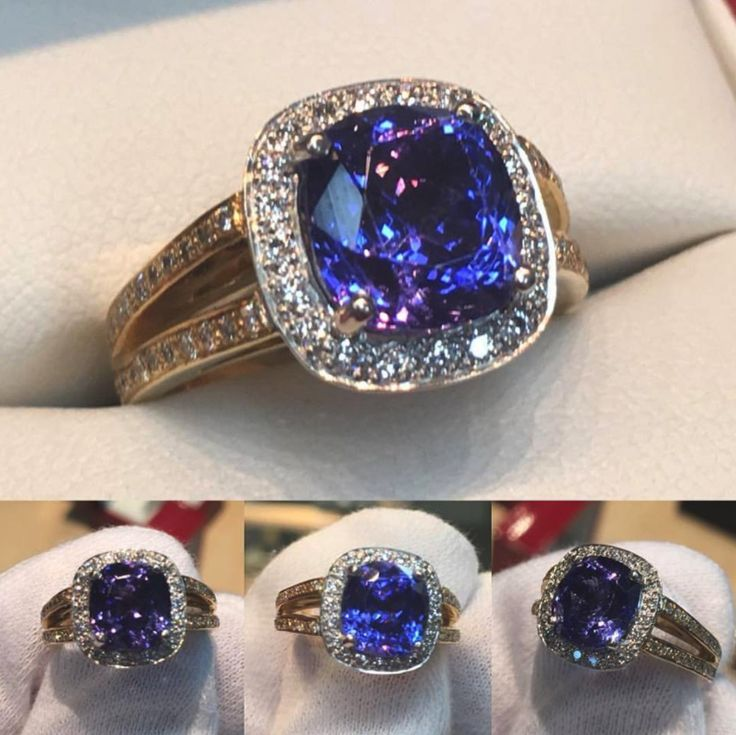 What colour do you see? Blue or Purple? 💍💙💜💍   Is this stunning #Tanzanite ring calling your name? ... Call us on 02 92994251