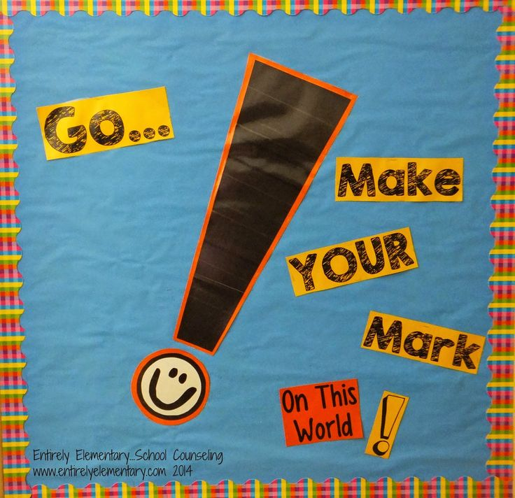 Entirely Elementary...School Counseling: Theme for 2014: Make your Mark!