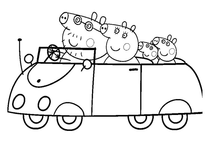 Oh Peppa Pig and her family ! How to colour this picture?