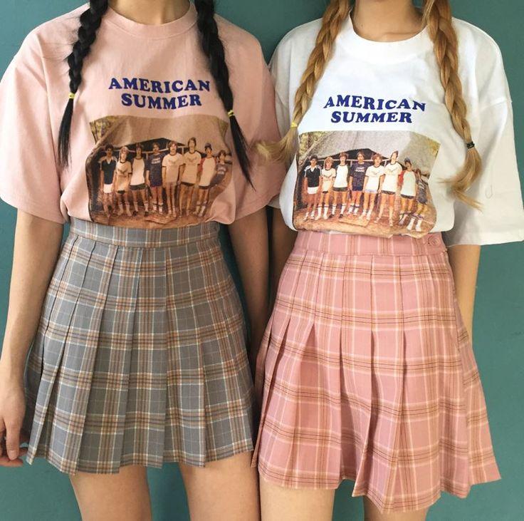 Uniform tall waist plaid skirt - Thumbnail 1