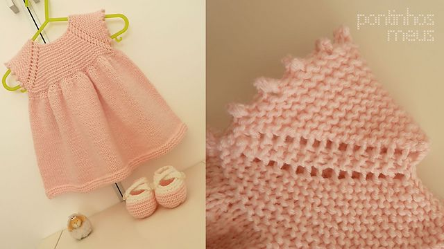 Ravelry: pontinhosmeus' Sweet baby dress (Rolly), free pattern