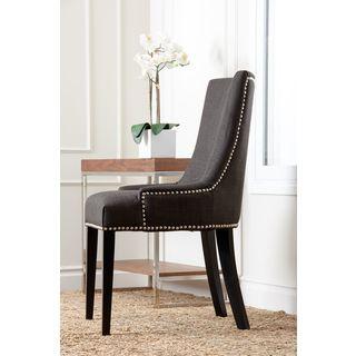 Abbyson Newport Grey Fabric Nailhead Trim Dining Chair By Abbyson Shopping