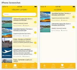 Nejrychlejší letenky mobilní aplikace, která agreguje levné letenky z nám již důvěrně známých serverů jako např. Akční letenky, Zalet si, atd. Bohužel algoritmus FB jejich status updaty neukazuje všem a tak ty nejlepší nabídky dost často propásnem. Nejrychlejší letenky vám všechny letenkové slevy pohlídá, umožní je vidět na jednom místě a dokonce si appku můžete nastavit tak, aby vám zapípala v okamžiku zveřejnění nové akční slevy.