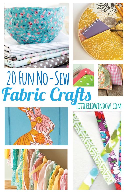 20 Fun No-Sew Fabric Crafts | littleredwindow.com