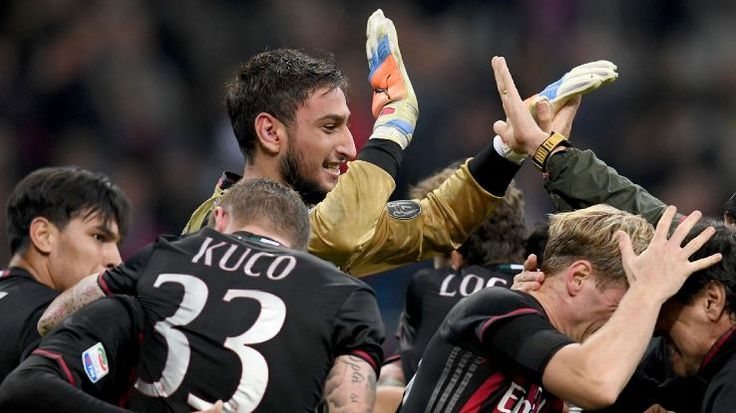 Gianluigi Donnarumma produced a sensational save in the dying seconds to seal the win for AC Milan over Juventus.