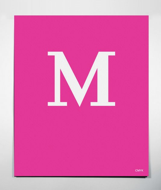 $30 Set of 4 CMYK Posters - Magenta