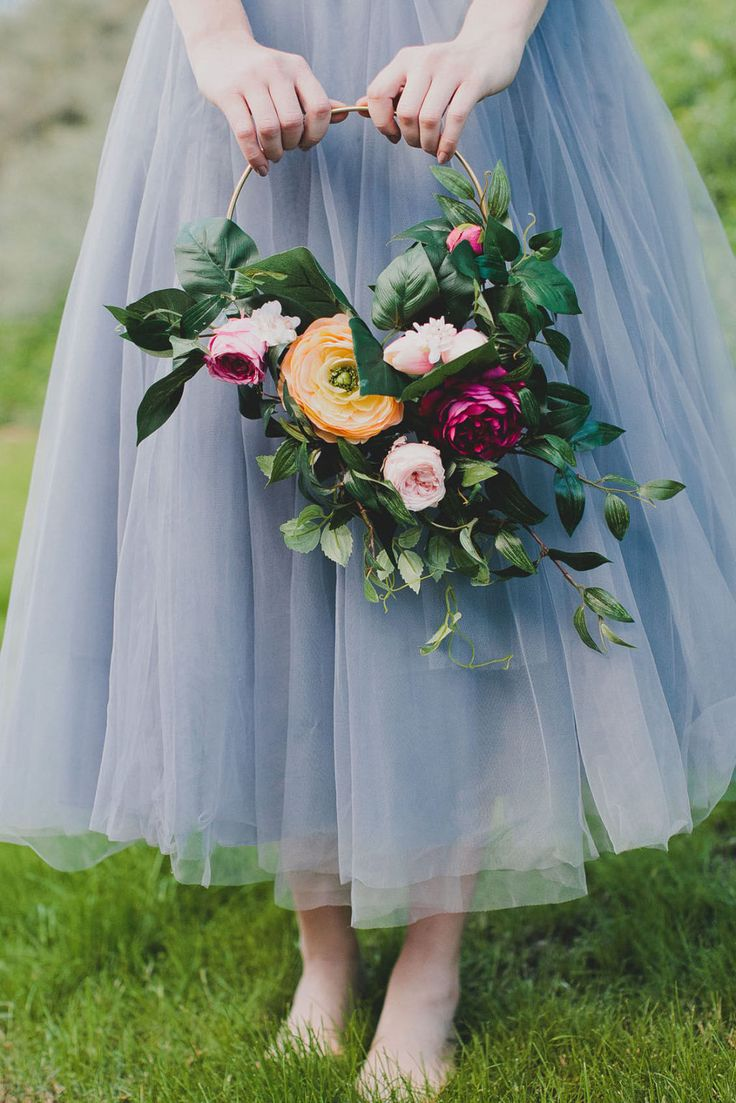 Floral Hoops Are the Prettiest Alternative to Bridal Bouquets  - HouseBeautiful.com