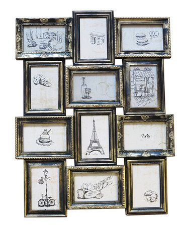 black gold 12 picture collage frame