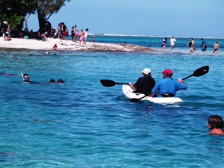 Kayaking at Mystery Island , Vanuatu
