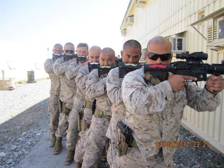 U.S. Marines with combat ready gun mustaches.: Awesome, Funny Stuff, Humor, Things, Mustache, Military
