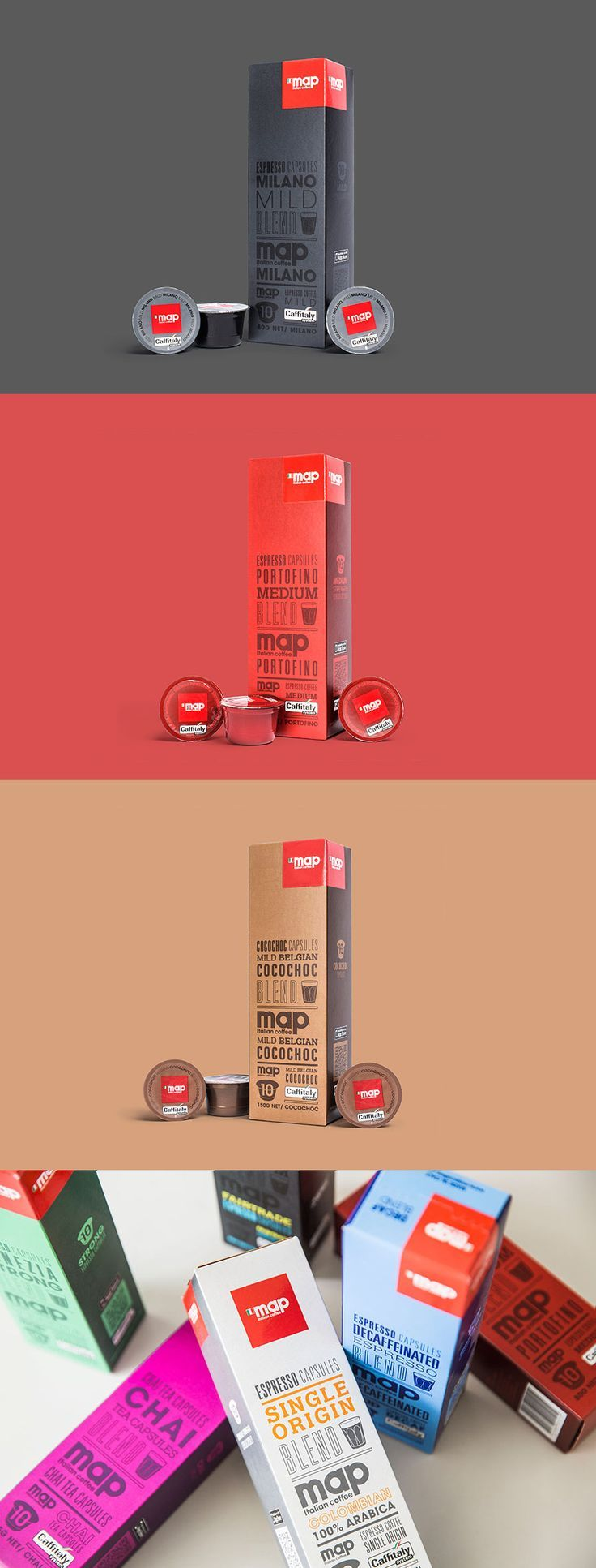 Map Coffee Capsule Packaging by Can I Play