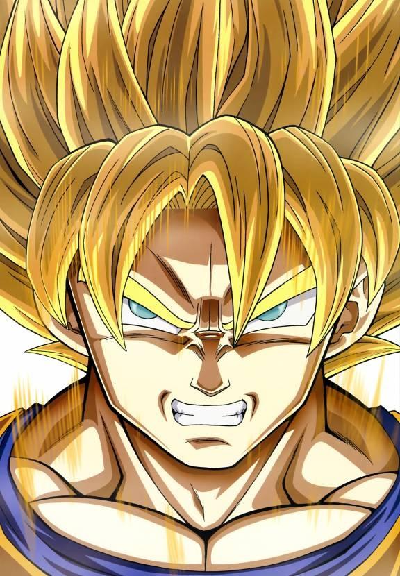 Dragon Ball Z : Super Saiyan Goku. also see #fantasy pics www.freecomputerdesktopwallpaper.com/wfantasy.shtml