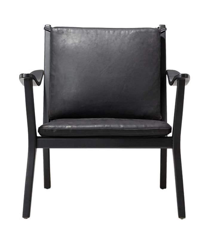 Cb2 Parlay Black Leather Lounge Chair Black Leather Chair Black