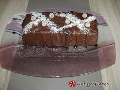 Νηστίσιμος κορμός σοκολάτας με γκοφρετάκια #sintagespareas