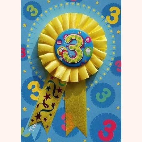 Karnet dla dziecka na 3 urodziny