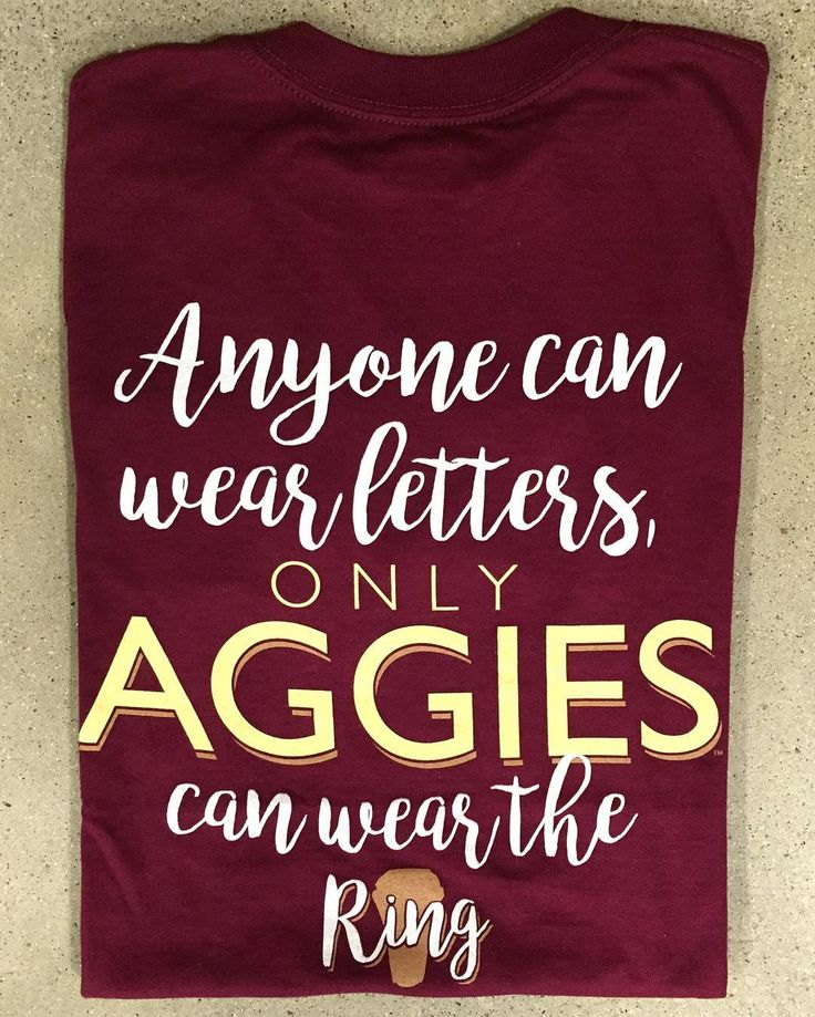 """987 Likes, 5 Comments - Aggieland Outfitters (@aggieoutfitters) on Instagram: """"Getting your Aggie bling today?? Stop by and yourself this new t-shirt! #aggieringday #btho90hours…"""""""