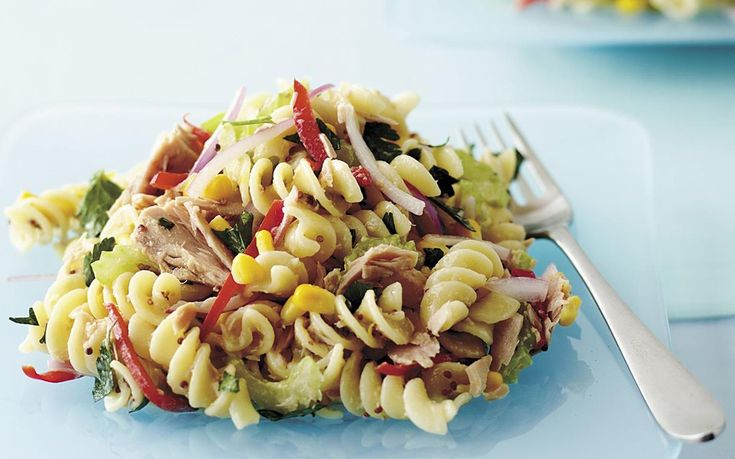 Warm tuna pasta salad recipe - By Australian Women's Weekly, A tasty, healthy dish perfect for lunch, dinner or even a quick filling snack. This warm tuna pasta salad is also good cold the next day or as a packed lunch.
