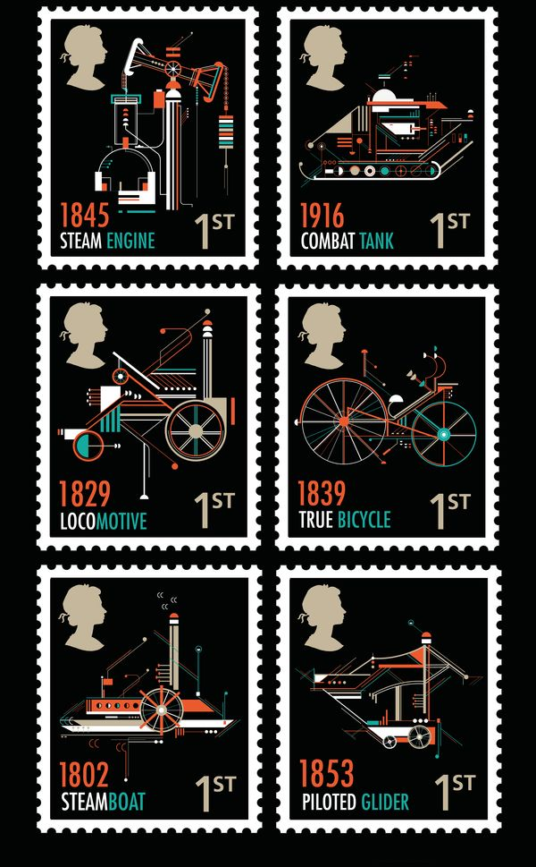 RSA Stamps by Petros Afshar, via Behance