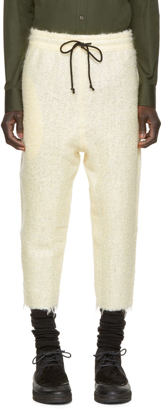 Pigalle Cream Mohair Trousers