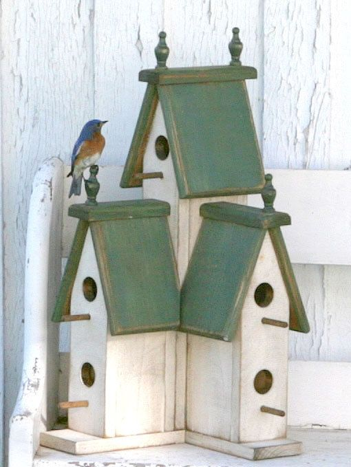 Wooden Birdhouse PATTERN Victorian Birdhouse by Wooden Creations  The Large Victorian Birdhouse would truly be a haven for your neighborhood