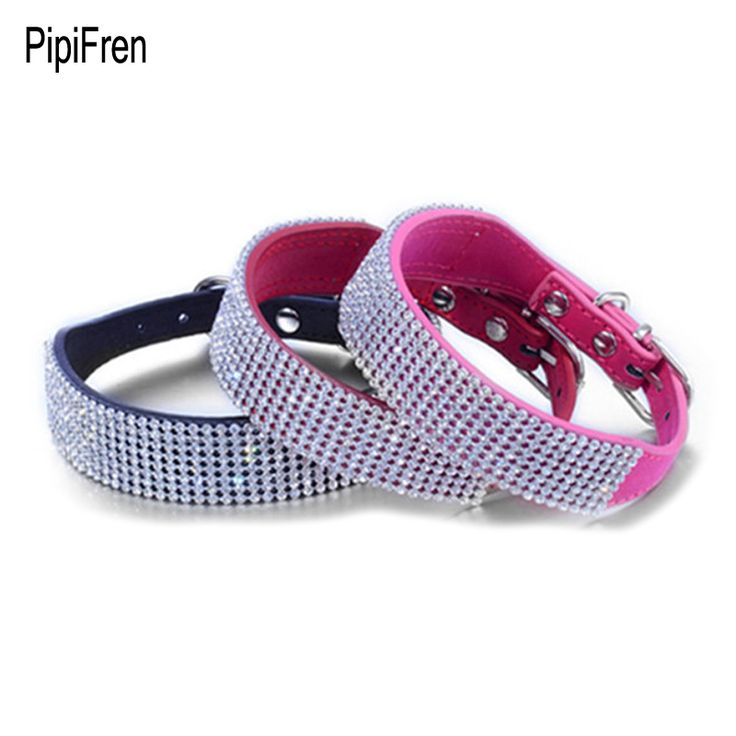 PipiFren Cats Collars Dogs Rhinestone For Cat-Collar Necklace Pet Leash Accessories Supplies collares para gatos kat halsband #Affiliate