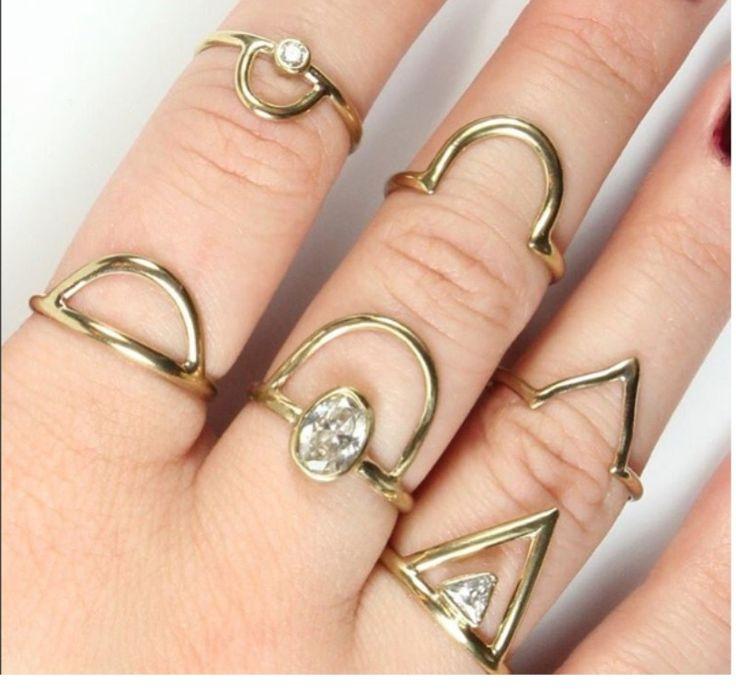 14k white gold alternative bridal options from Adriatic Jewelry handmade in NYC www.adriaticjewelry.com  See more here: https://adriaticjewelry.com/product/luna-ring/