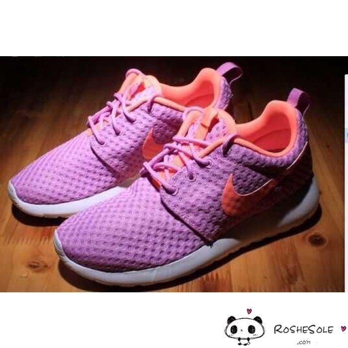 womens nike roshe run speckle orange purple