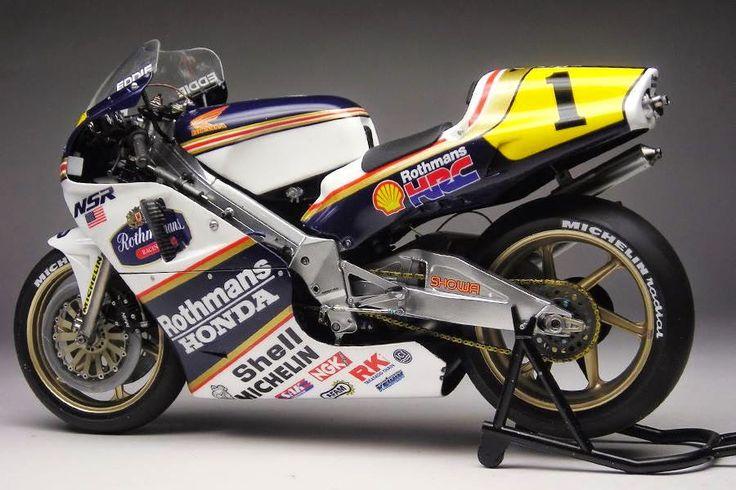 Racing Scale Models: Honda NSR 500 E.Lawson 1989 by Max Moto Modeling (Hasegawa)