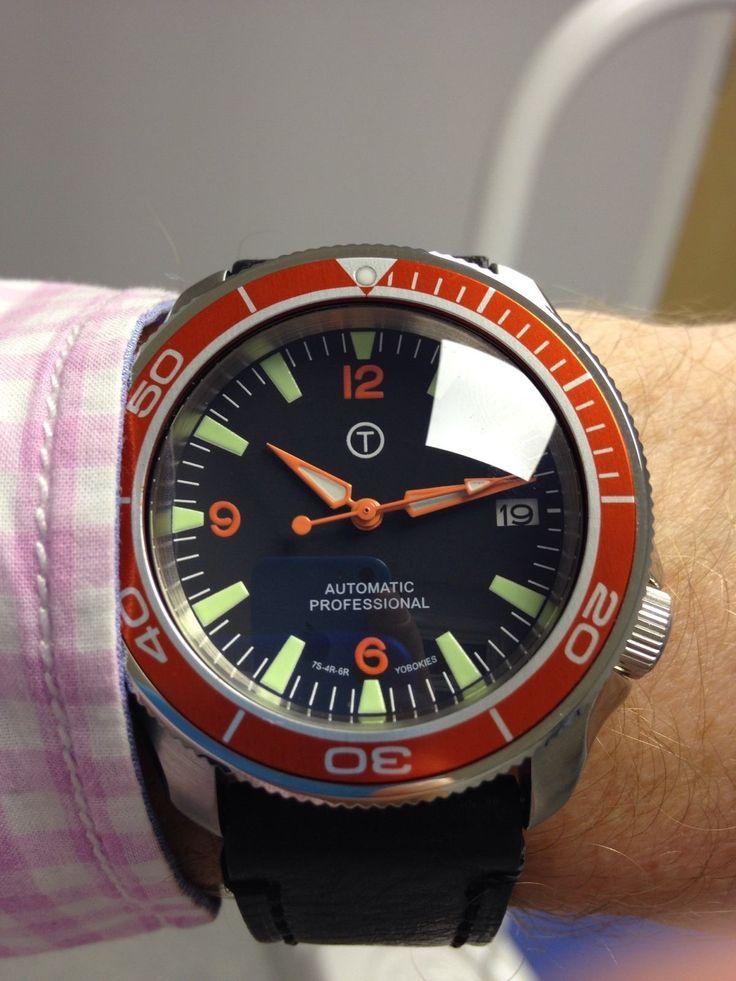Seiko SKX007 Custom.Orange 3-6-9 dial,hands and bezel ...