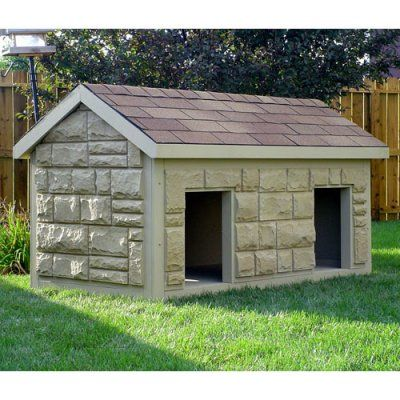 Hi tech large duplex insulated dog house dog houses for for Insulated dog houses for large dogs